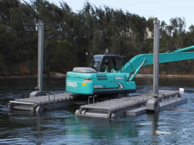 marsh buggy pontoons