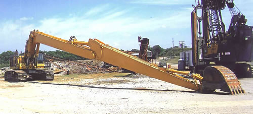long reach high reach construction equipment attachments